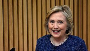 Hillary Clinton, el pasado 9 de octubre en Oxford.