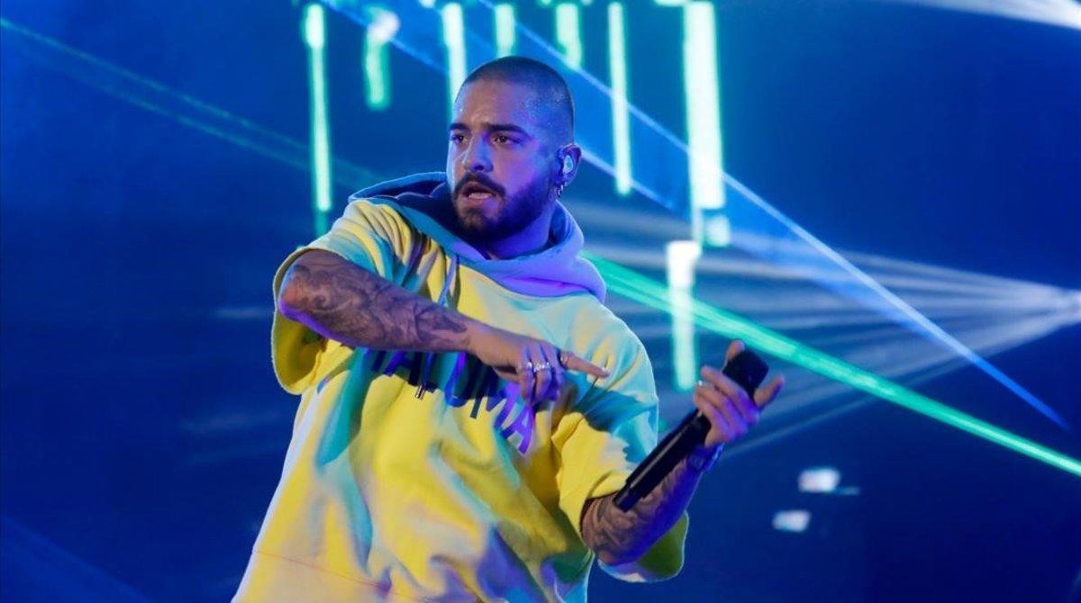 Maluma, en su debut en el TheWorld Music Festival, enRabat (Marruecos), el pasado 29 de junio.