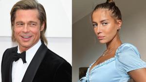 Brad Pitt y Nicole Poturalski.