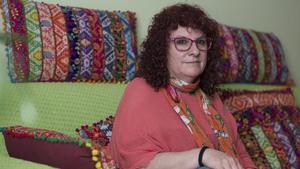 Alicia Campos, en su domicilio del Poble Sec.