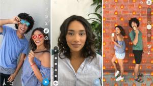 Snapchat presenta tres nuevas funcionalidades.