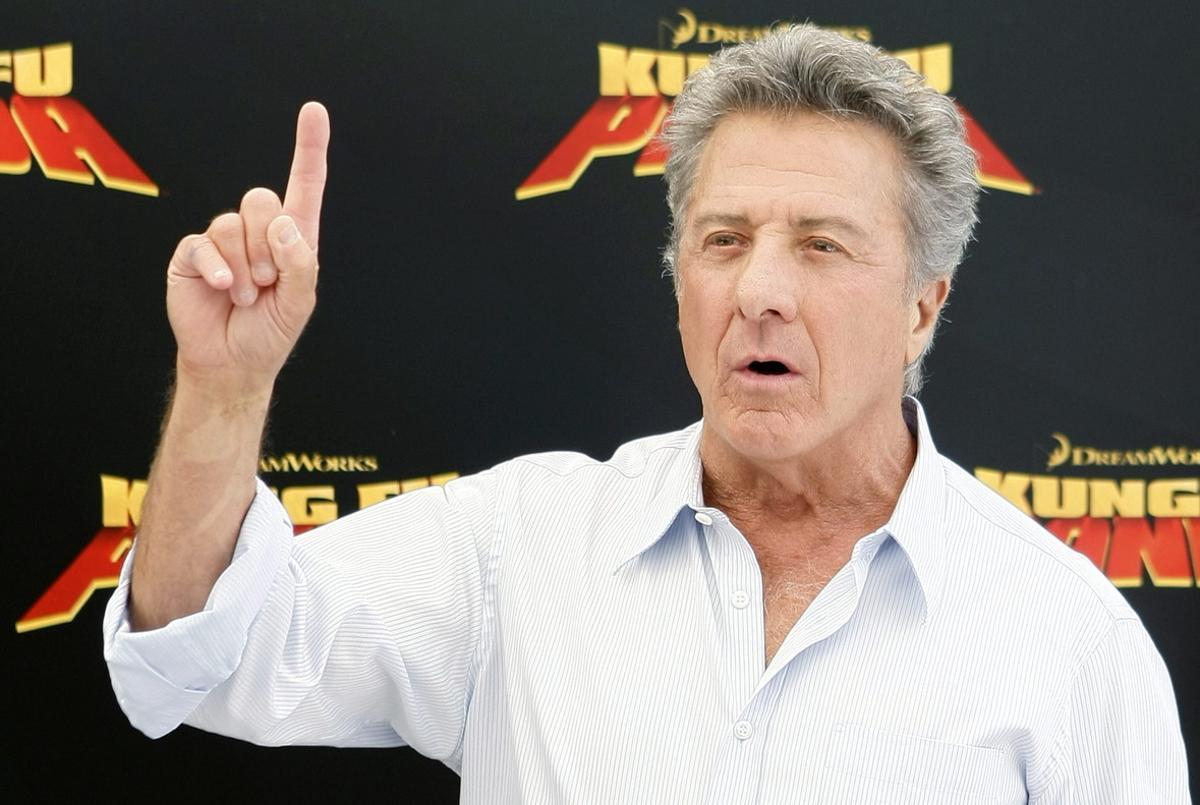 Dustin Hoffman en la presentació de la película 'Kung Fu Panda'.