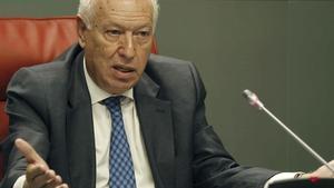 José Manuel García-Margallo, ministro de Exteriores, el pasado 19 de septiembre, durante una rueda de prensa en Madrid.
