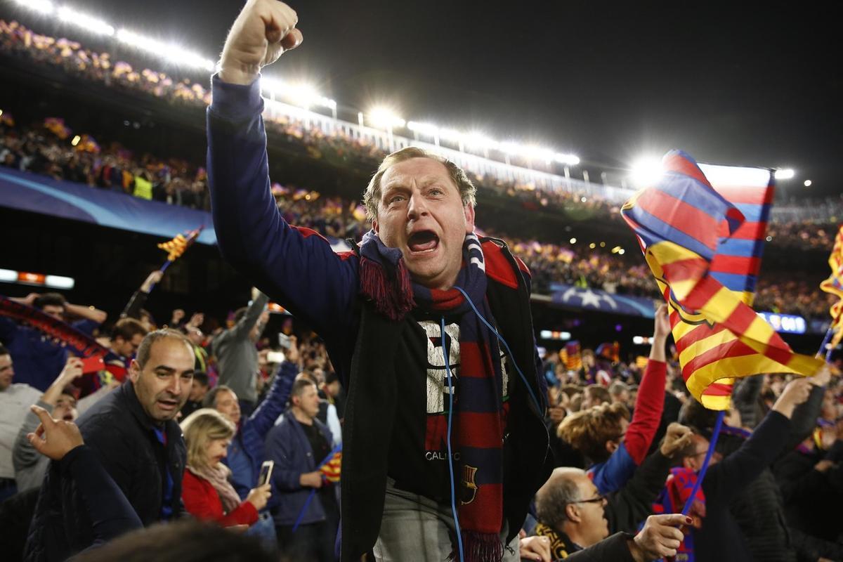 Euforia desbocada en el Camp Nou.