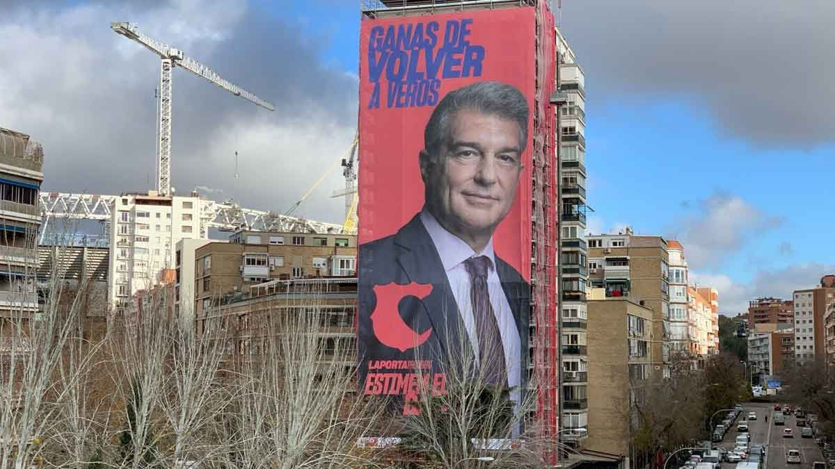 Carteles de Joan Laporta en Madrid
