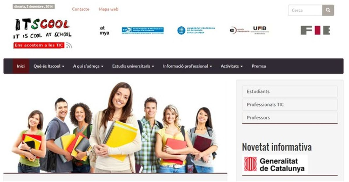 Cabezera del portal ITSCOOL.