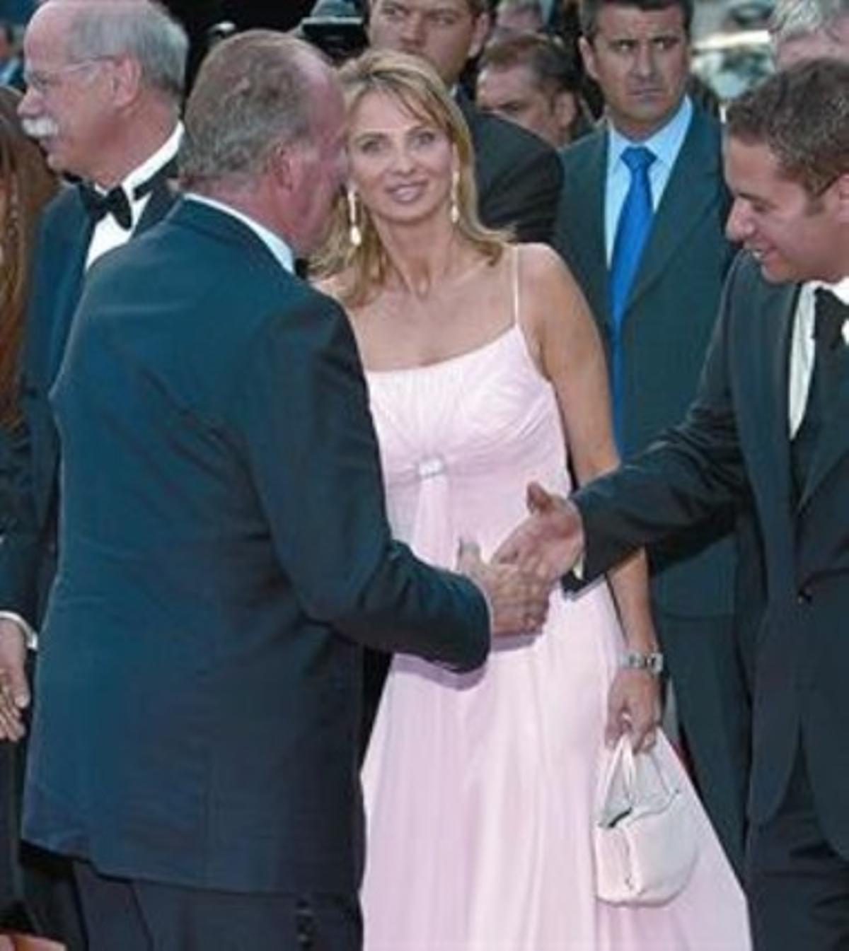El Rey y Corinna, en la concesión de los premios Laureus, en el 2006.
