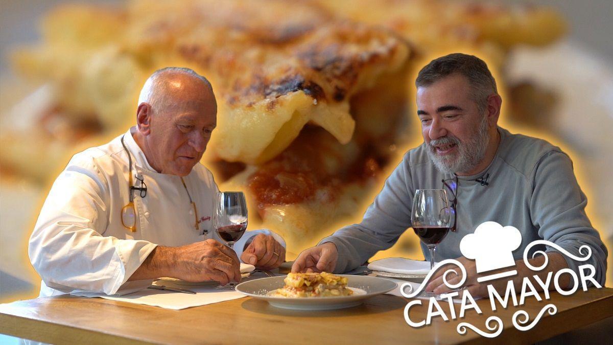 Cata Mayor: Los 'macarrones de cardenal' de Carles Gaig.