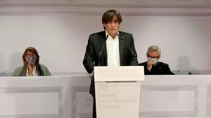 19 12 2020 El expresidente de la Generalitat y presidente del Consell per la Republica  Carles Puigdemont  POLITICA   CONSELL PER LA REPUBLICA