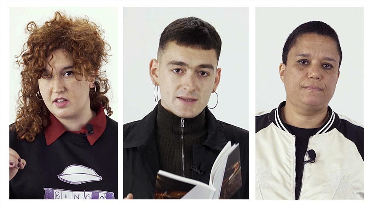 Raquel Santanera,  Pol Guasch y Blanca Haddah,  poetas que participan en el Barcelona Poesia