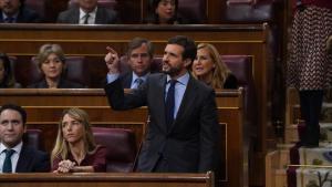 Pablo Casado en el debate de investidura.