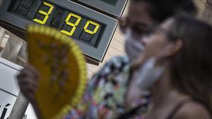Temperaturas de casi 40 grados, el pasado julio en Valencia.