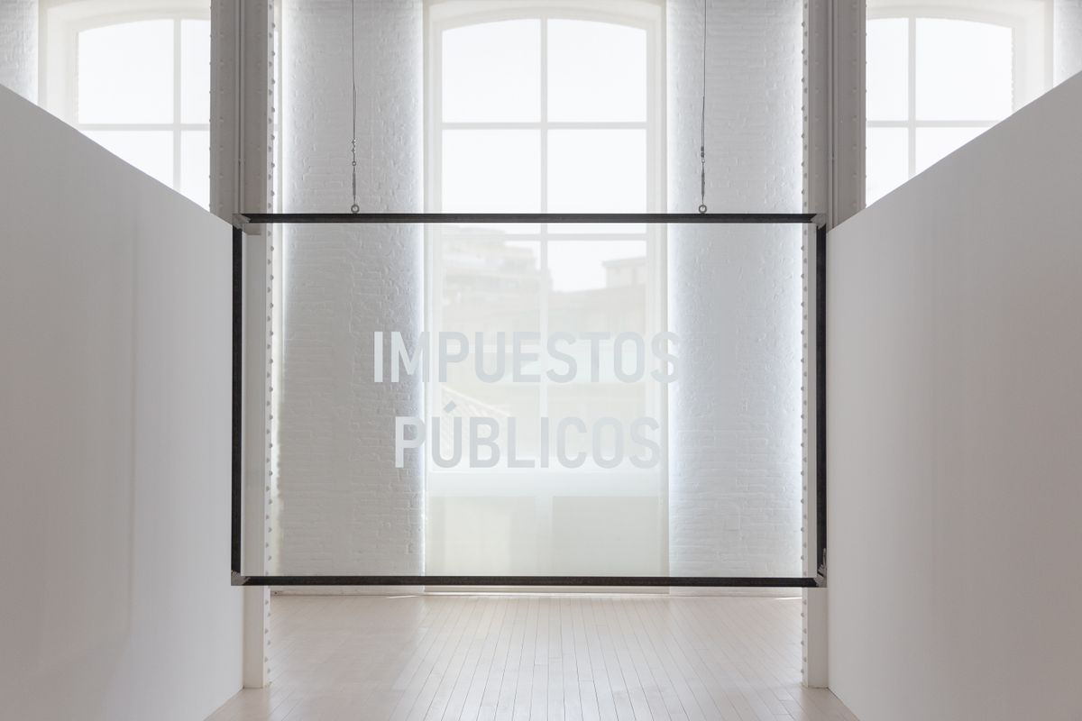 Un aspecto de la exposición de Núria Güell en Fabra i Coats.
