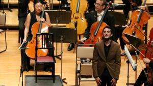 El compositor Fabià Santcovsky, ayer, en el Bunkamura Orchard Hall de Tokio.