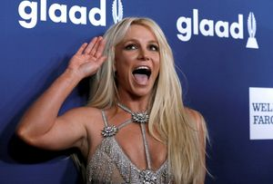 Britney Spears, durante la entrega de unos premios en beverly Hills, hace un año.