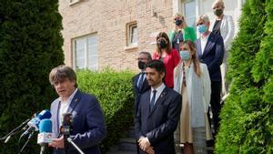 Puigdemont rep el vicepresident Puigneró a Waterloo