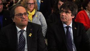 Quim Torra y Carles Puigdemont, el pasado 8 de diciembre, en Bruselas.