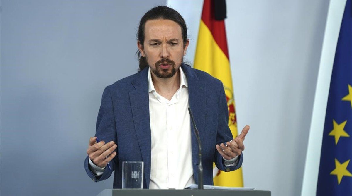 El vicepresidente segundo y líder de Podemos, Pablo Iglesias