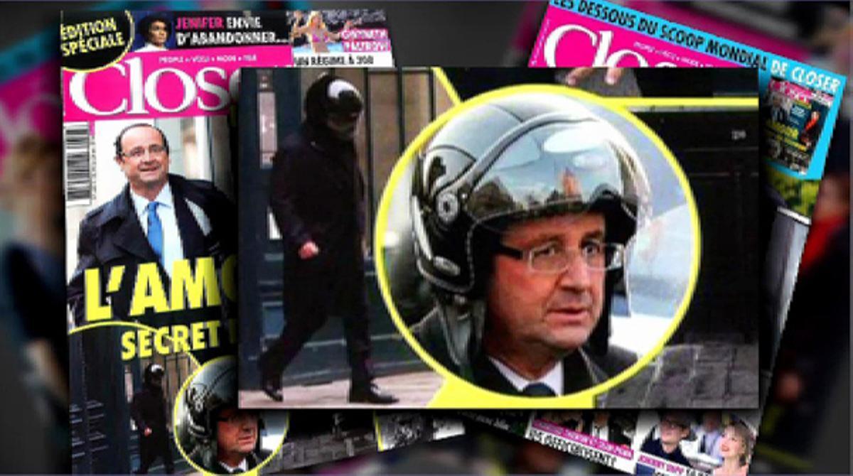 El casco utilizado por Hollande, récord de ventas en Francia.