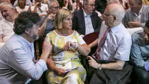 Castellà, De Gispert y Rigol, en el acto de presentación de Demòcrates de Catalunya.