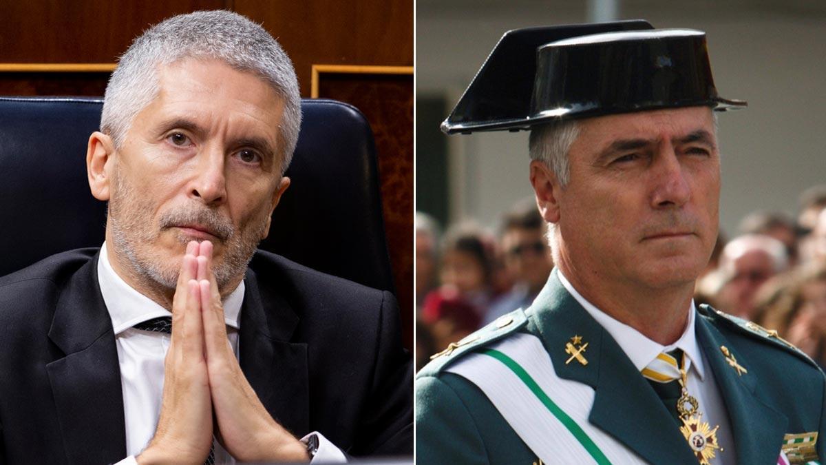 Marlaska cambia al número tres de la Guardia Civil. En la foto, el ministro y Félix Blázquez.
