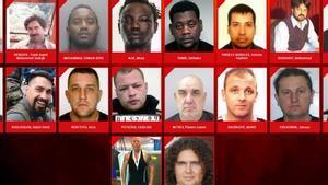 Algunos de los violadores más buscados por Europol.