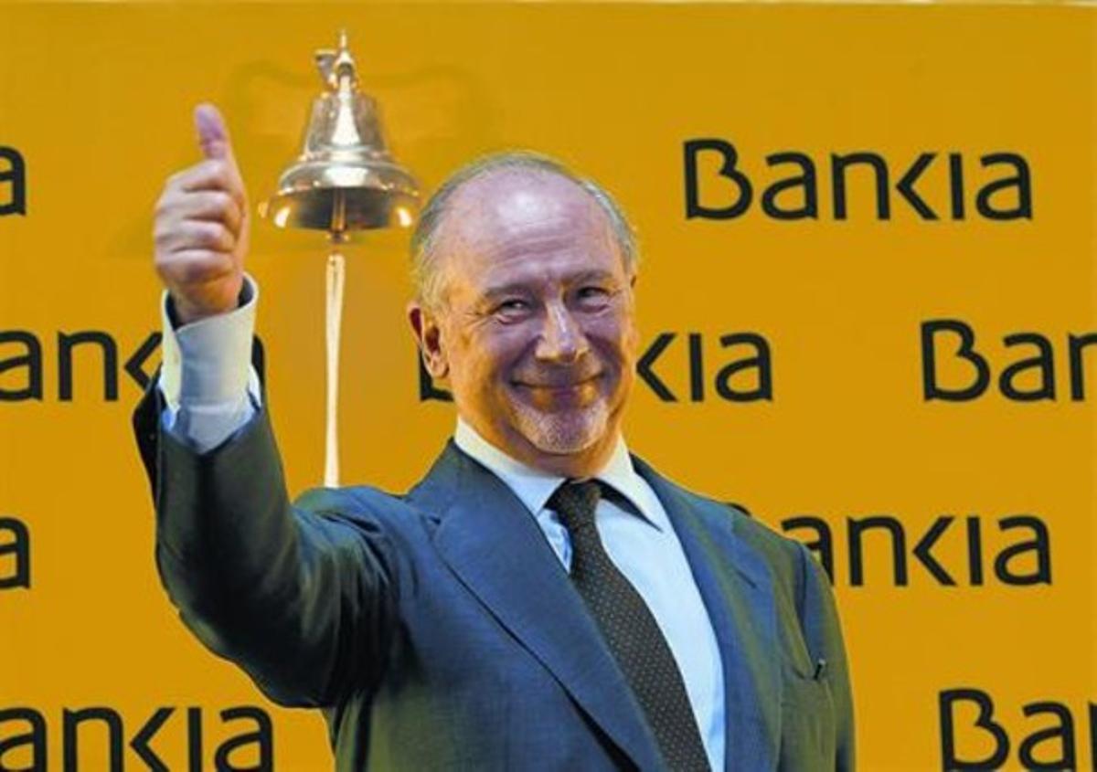 Rodrigo Rato, en el acto de salida a bolsa de Bankia en el 2011.