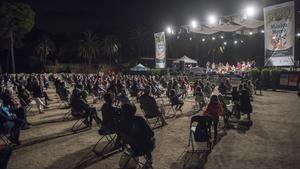 Concierto de homenaje a Xavi Turull, en el Parc Güell de Barcelona, el pasado septiembre durante las fiestas de la Mercè.