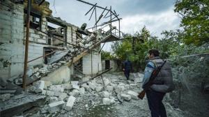 Conflicto armado enNagorno Karabaj entre Armenia yAzerbaiyán.