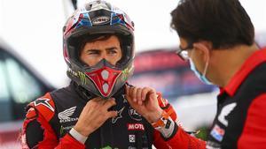 Joan Barreda, ganador de la segunda etapa del Dakar, en motos.