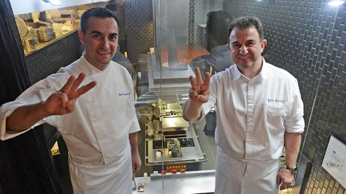 Martín Berasategui logra para Barcelona el primer restaurante con tres estrellas Michelin.