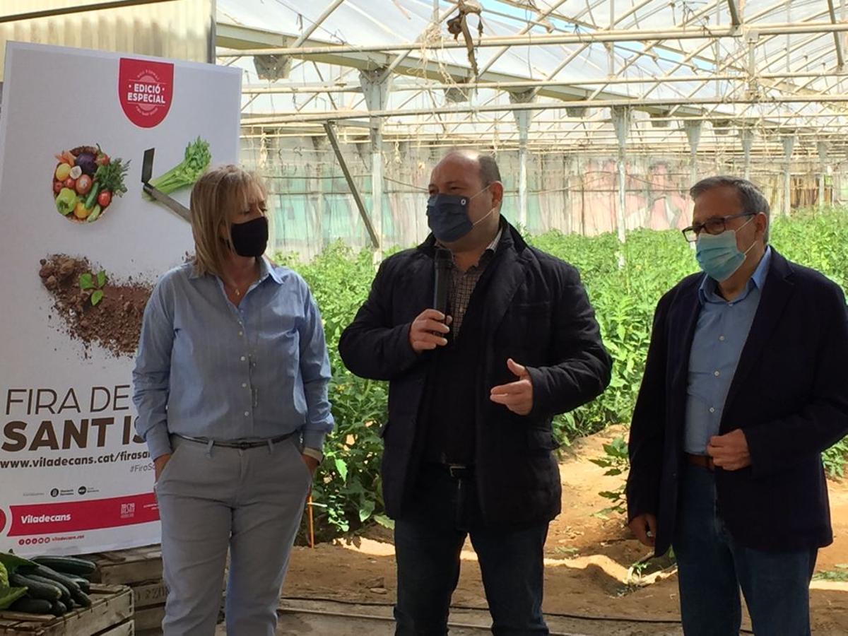 Presentación dela Feria de Sant Isidre y la decimonovena Muestra desde la explotación agrícola de Can Calbet en el Parque Agrario de Viladecans