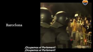 Un vídeo de Cs equipara el asalto al Capitolio de los Estados Unidos con las protestas independentistas frente al Parlament..
