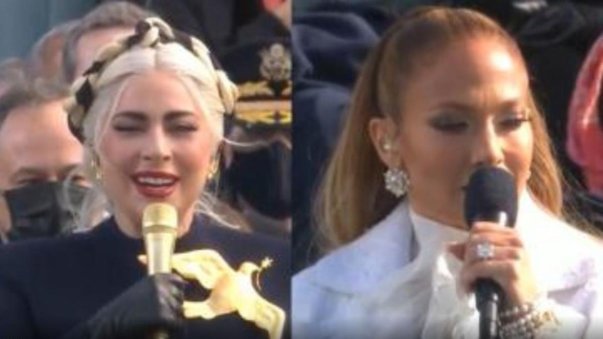 Lady Gaga y Jennifer Lopez actúan en la investidura de Joe Biden