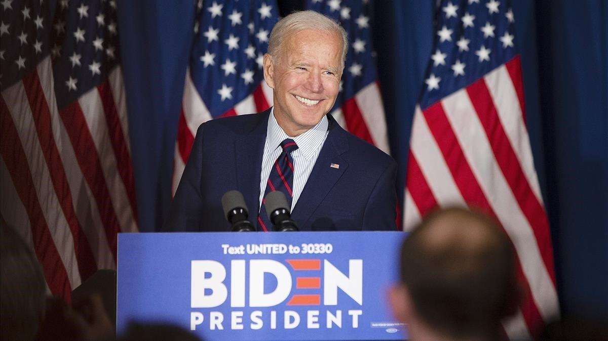 Biden, en en un acto de campaña.