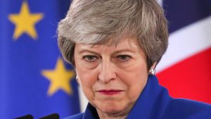 British Prime Minister Theresa May holds a news conference following an extraordinary European Union leaders summit to discuss Brexit  in Brussels  Belgium April 11  2019   REUTERS Yves Herman     TPX IMAGES OF THE DAY