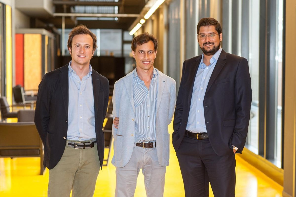 Oriol Chimenos, Luis Reig, Leonardo Ramírez, socios de Zank.