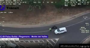 Vídeo | Así ha perdido 10 puntos un motorista