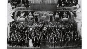 Estreno de 'La Pasión según San Mateo' en 1921 en el Palau de la Música Catalana.