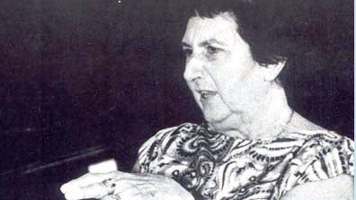 La oceanógrafa Ángeles Alvariño.