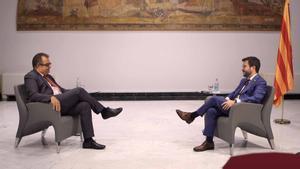 Entrevista al President de la Generalitat, Pere Aragonès, por Albert Sáez.