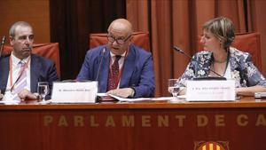 El exjefe de la unidad de Asuntos Internos de la Policía Nacional,Marcelino Martín Blas, durante su comparecencia en la comisión sobre la 'operación Cataluña' en el Parlament.