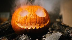 Tradicional calabaza de Halloween.