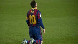 Leo Messi, en la Copa del Rey ante el Sevilla.