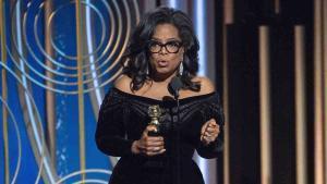 Todas las actrices y actores se vistieron de negro riguroso en señal de rechazo al acoso denunciado por muchas de ellas.