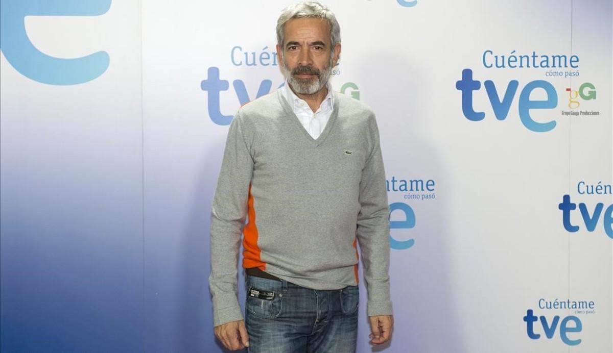 Imanol Arias, en la presentación de la última temporada de la serie 'Cuéntame cómo pasó'.