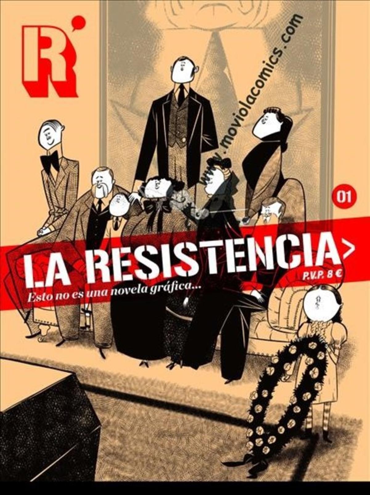 Portada primer número de la revista de cómic 'La resistencia'.