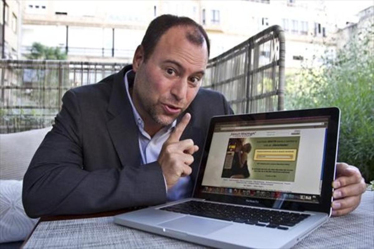 Noel Biderman, el fundador de Ashley Madison, en el 2011 en Barcelona.