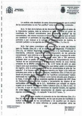 Fragmento del oficio 3022/2017 - 20-S y 1-O