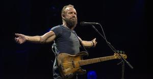 Sting, en un momento de su actuación en el Festival Jardins de Cap Roig, anoche.